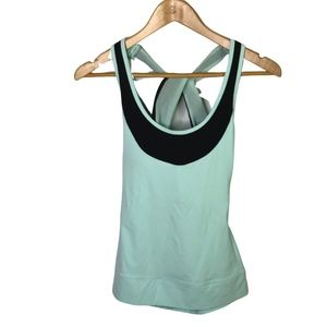 LUCY Racerback Tank Top XS Blue Gray Twisted